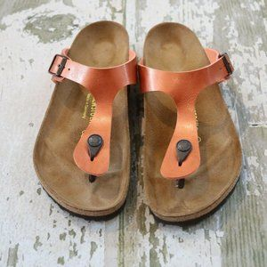 BIRKENSTOCK Copper Leather GIZEH sandals Shoe 39 8